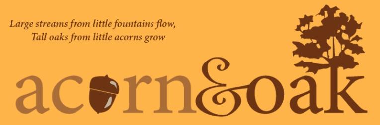 Acorn & Oak, blog logo