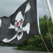 Pirate flag, Kennebec River