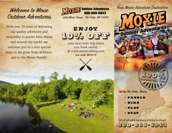 Moxie Outdoor Adventures trifold design, front and back