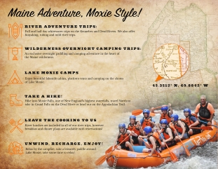 Moxie Outdoor Adventures trifold, inside design
